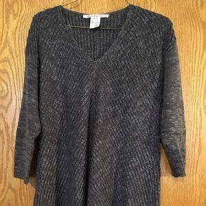 Gray oversized knit sweater